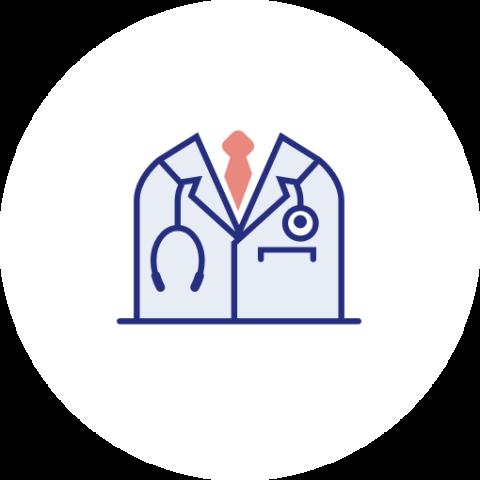 Icon zu niedergelassener Onkologe oder Gynäko-Onkologe